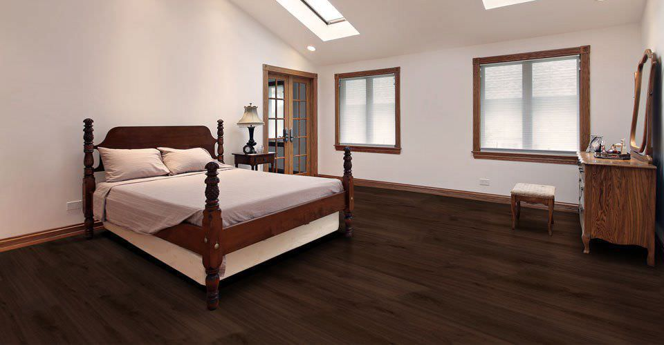 Wooden Laminate Flooring Floating For Domestic Use Commercial Plank Synchro Sc3007 Harmony Dark
