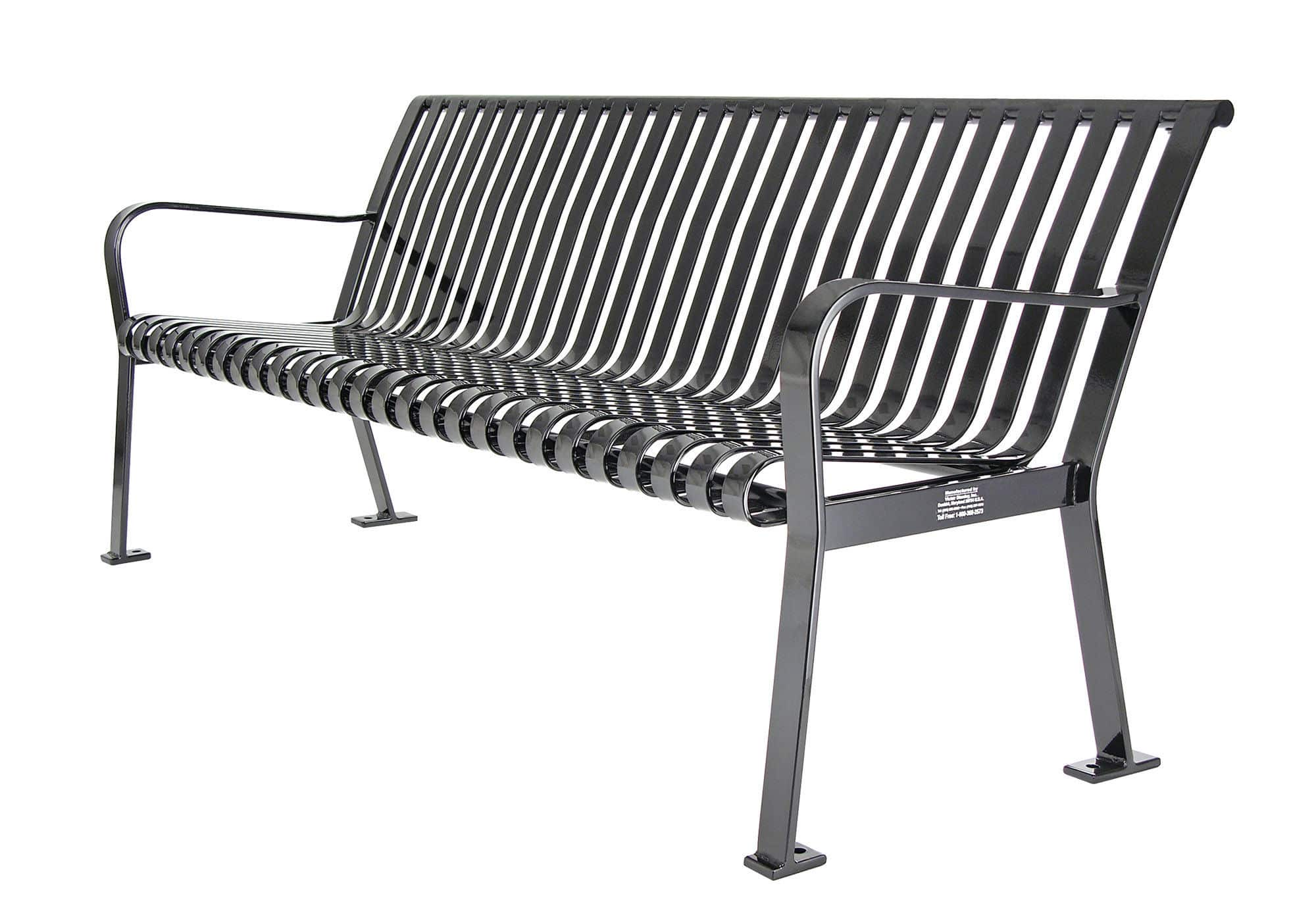 public bench / traditional / metal / with backrest - rb-28