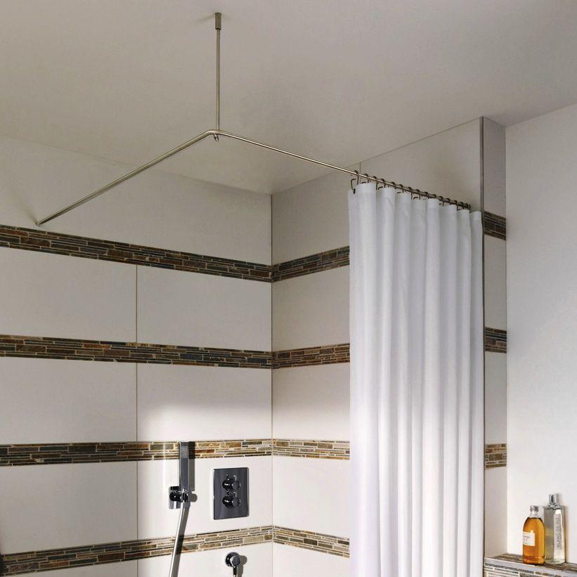 Phos Design stainless steel shower curtain bar / corner - dse1000 - phos design gmbh