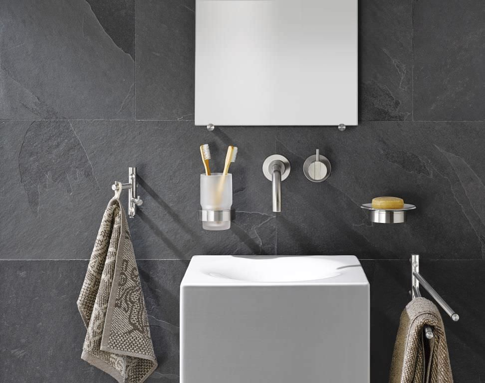 Phos Design wall-mounted soap dish / stainless steel - ats - phos design gmbh