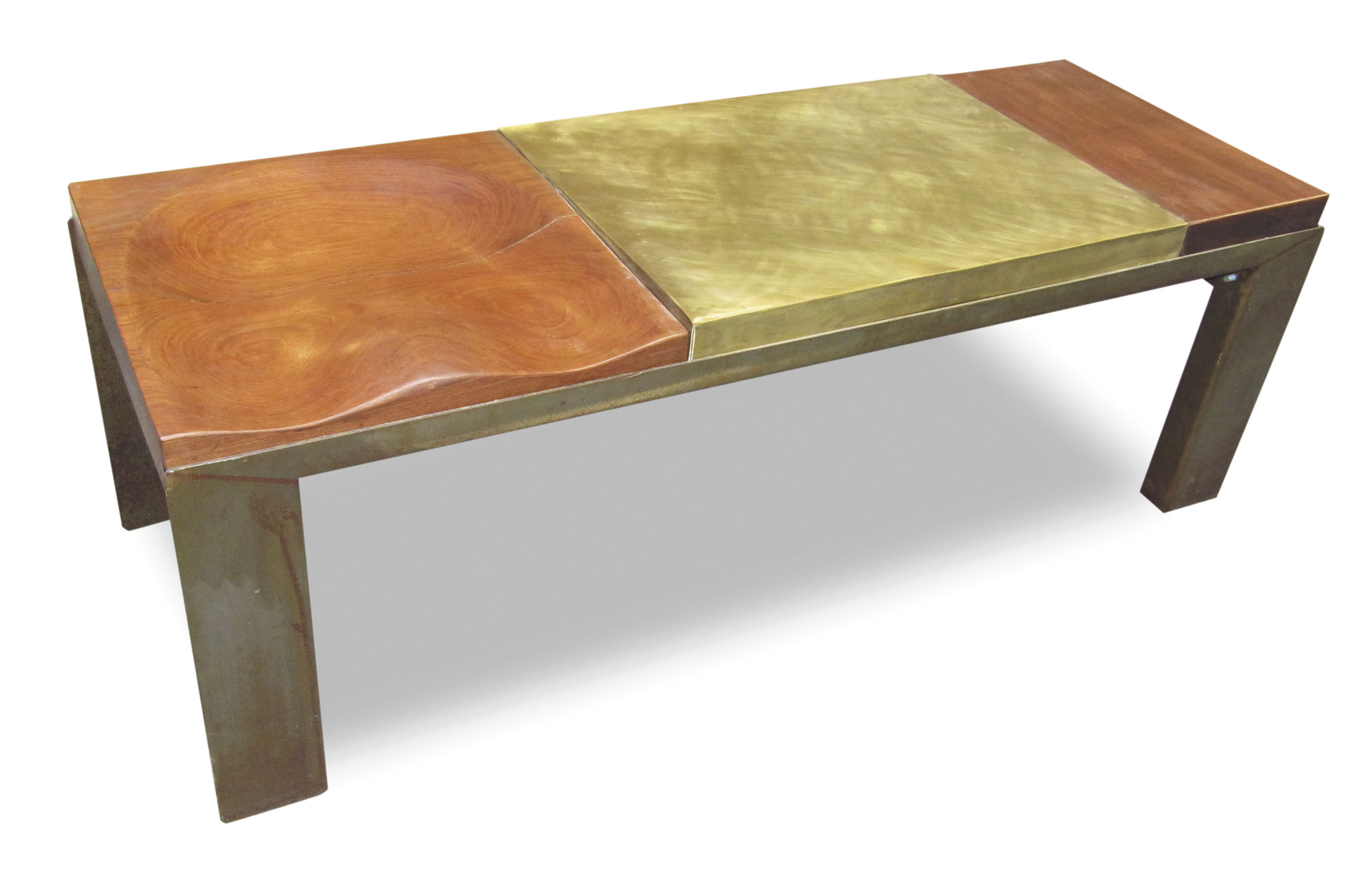 ici furniture. Original Design Bench / Oak Steel Brass - BRASS BENCH Ici Furniture D