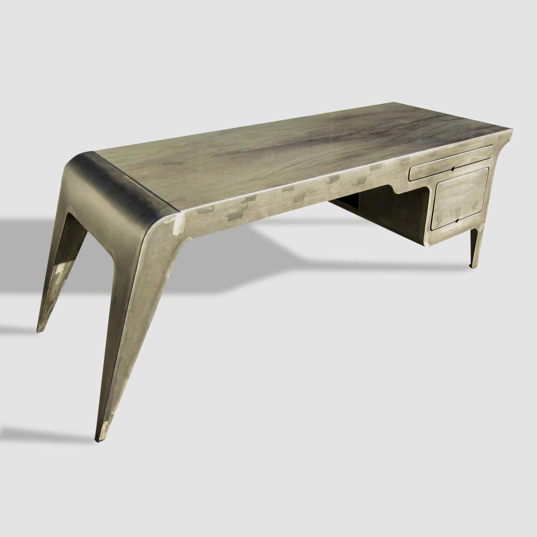 Patinated Metal Desk / Granite / Original Design / Commercial ...