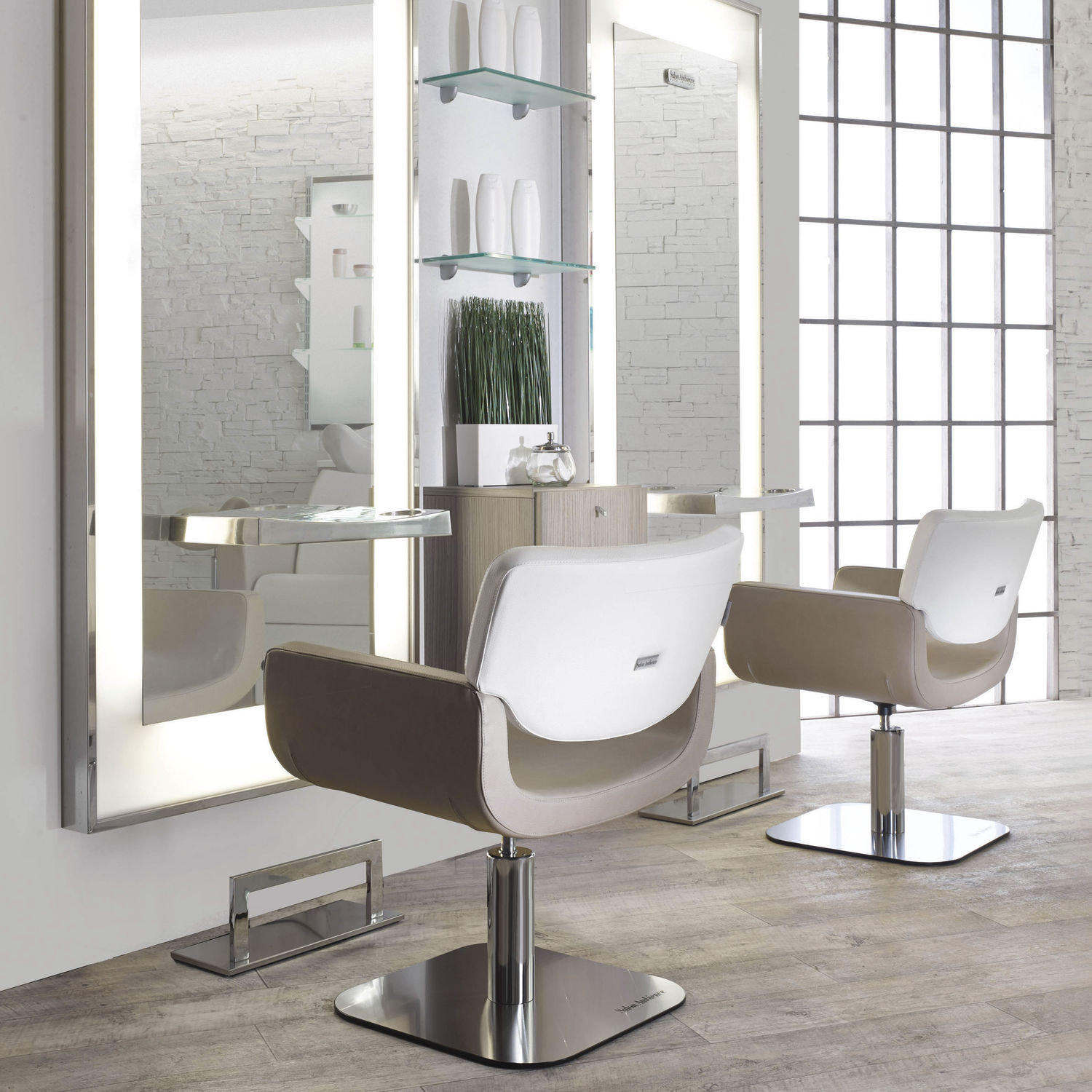 synthetic leather beauty salon chair steel wpc central base rh archiexpo com