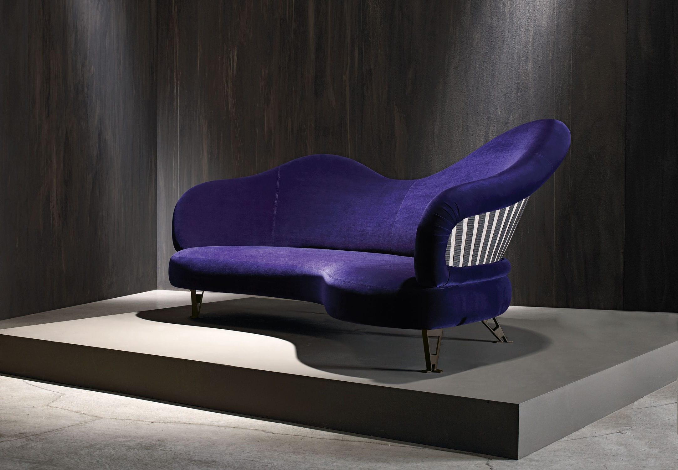 ... Original Design Sofa / Linen / Violet ...