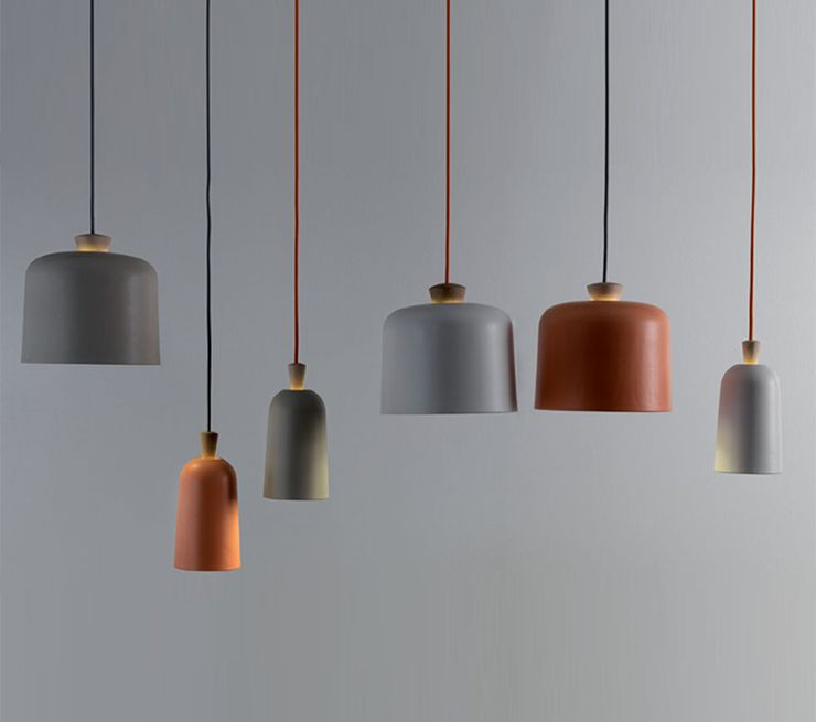 Pendant lamp contemporary ceramic