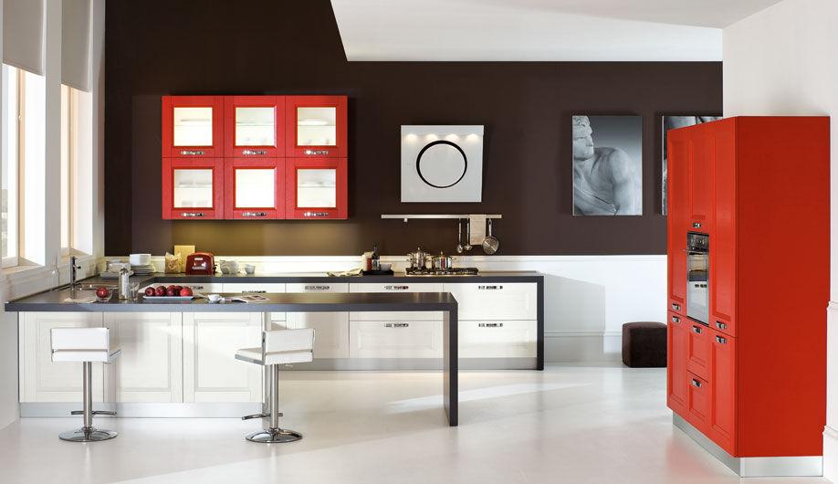 Contemporary kitchen / wooden / lacquered - GIOIA - Arrex