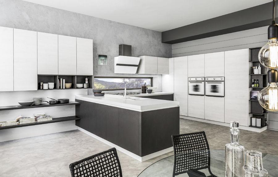 Contemporary kitchen / laminate / wooden / island - ORIENTE - Arrex