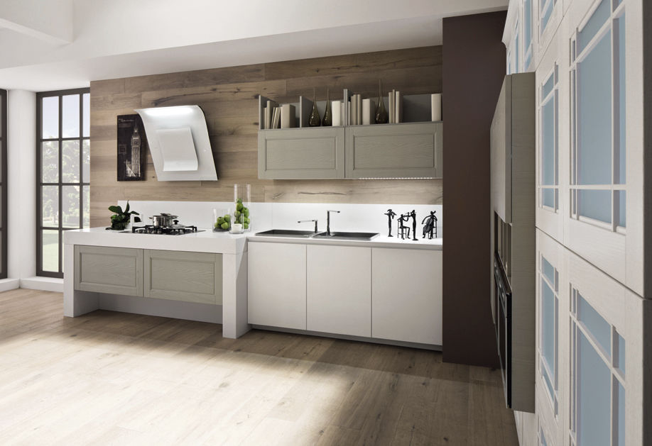 Contemporary kitchen / wooden / lacquered - ALICE - Arrex