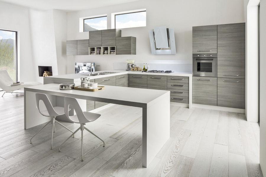 Cuisine Arrex contemporary kitchen / wooden / with handles - cacao new - arrex