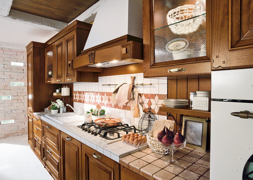 Traditional kitchen / solid wood / island - EPOCA - Ar-Tre