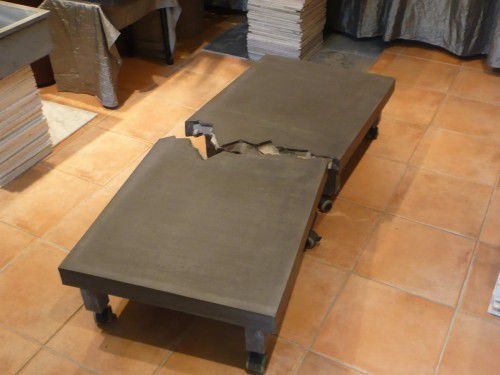 Original Design Coffee Table Ductal Uhp Concrete Rectangular Modular Berlin Wall