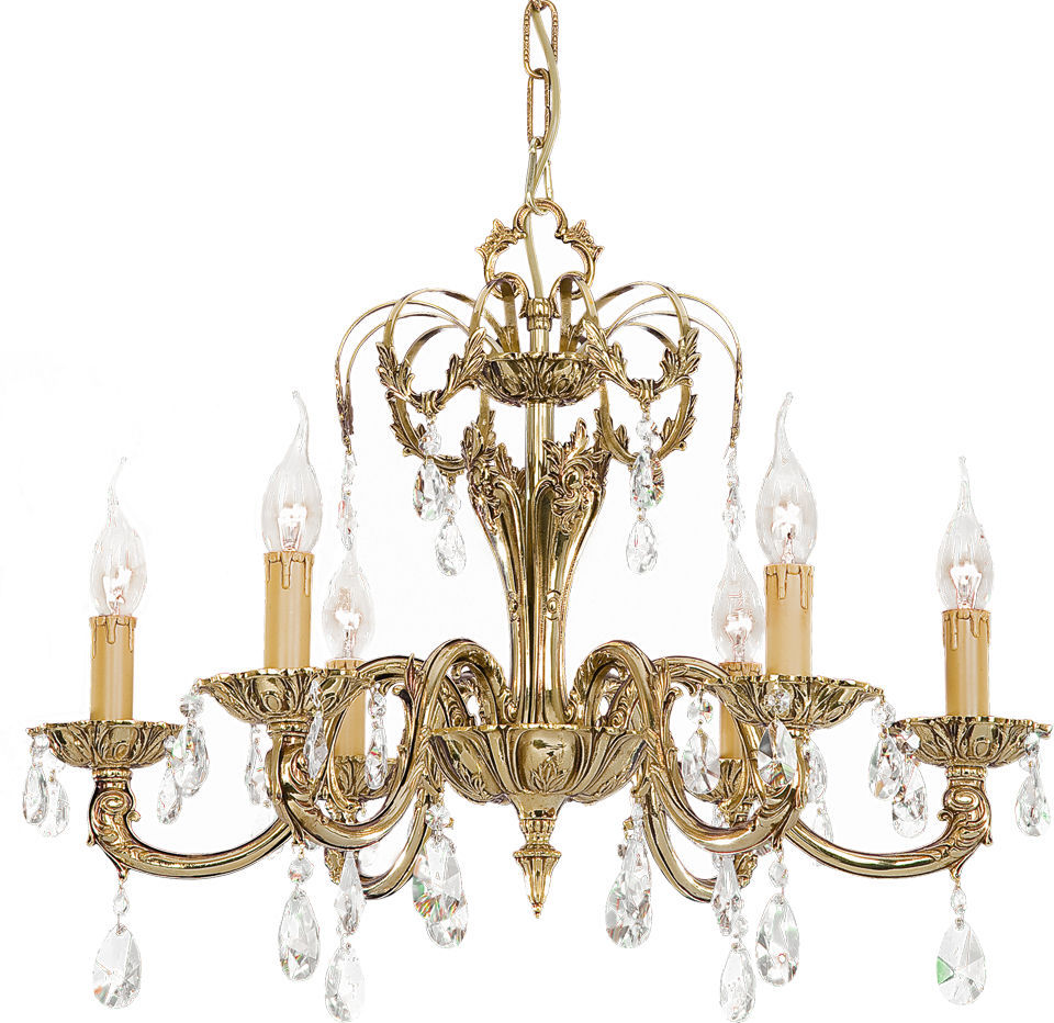 Classic chandelier brass incandescent roma 048a riperlamp classic chandelier brass incandescent roma 048a aloadofball Images