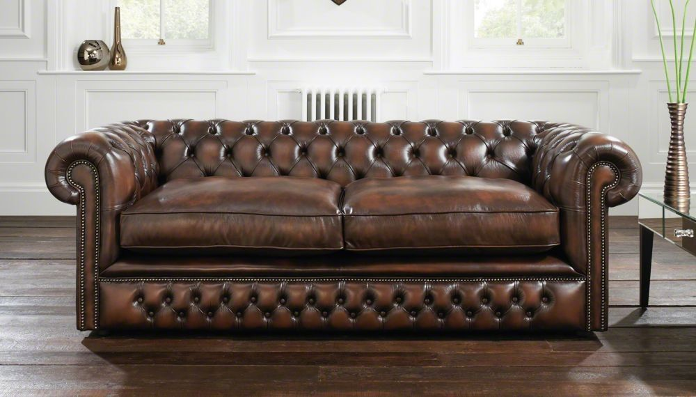 Sofa Bed / Classic / Leather / 2 Seater   HOLYROOD