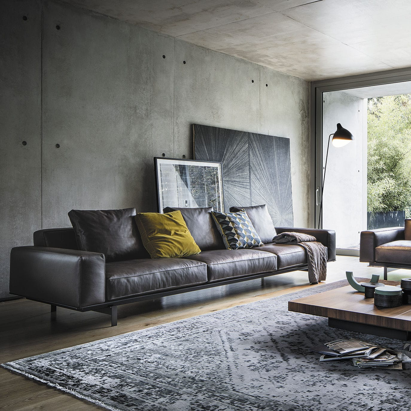 Contemporary Sofa / Fabric / 3 Seater / Brown   YARD By Francesco Rota