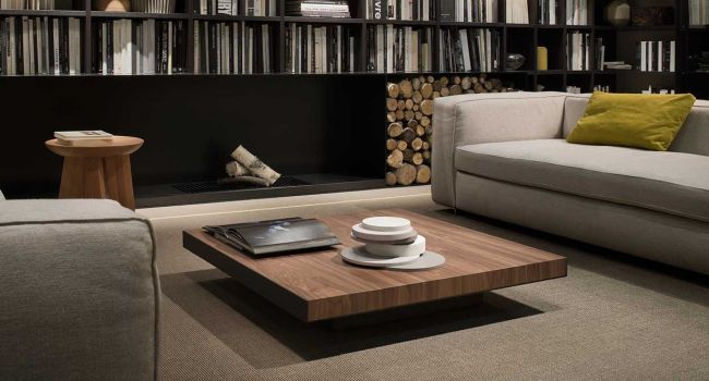 Exceptional ... Contemporary Coffee Table / Metal / Walnut / Square DECK LEMA Home ...