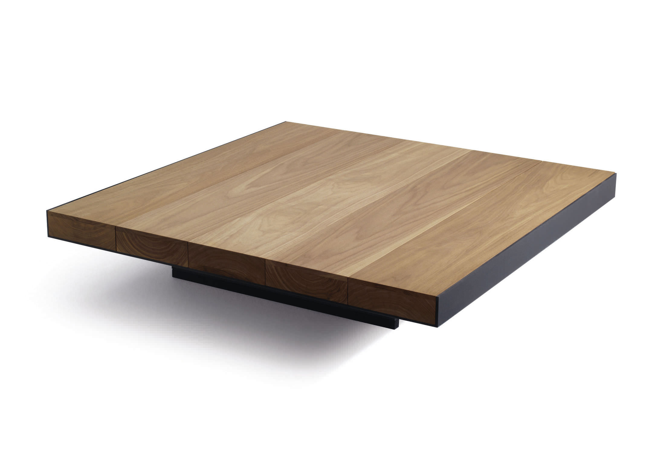 Contemporary coffee table metal walnut square DECK LEMA Home