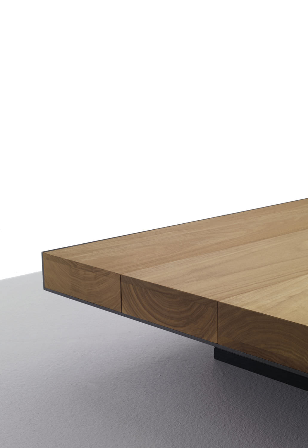 ... Contemporary Coffee Table / Metal / Walnut / Square DECK LEMA Home ...