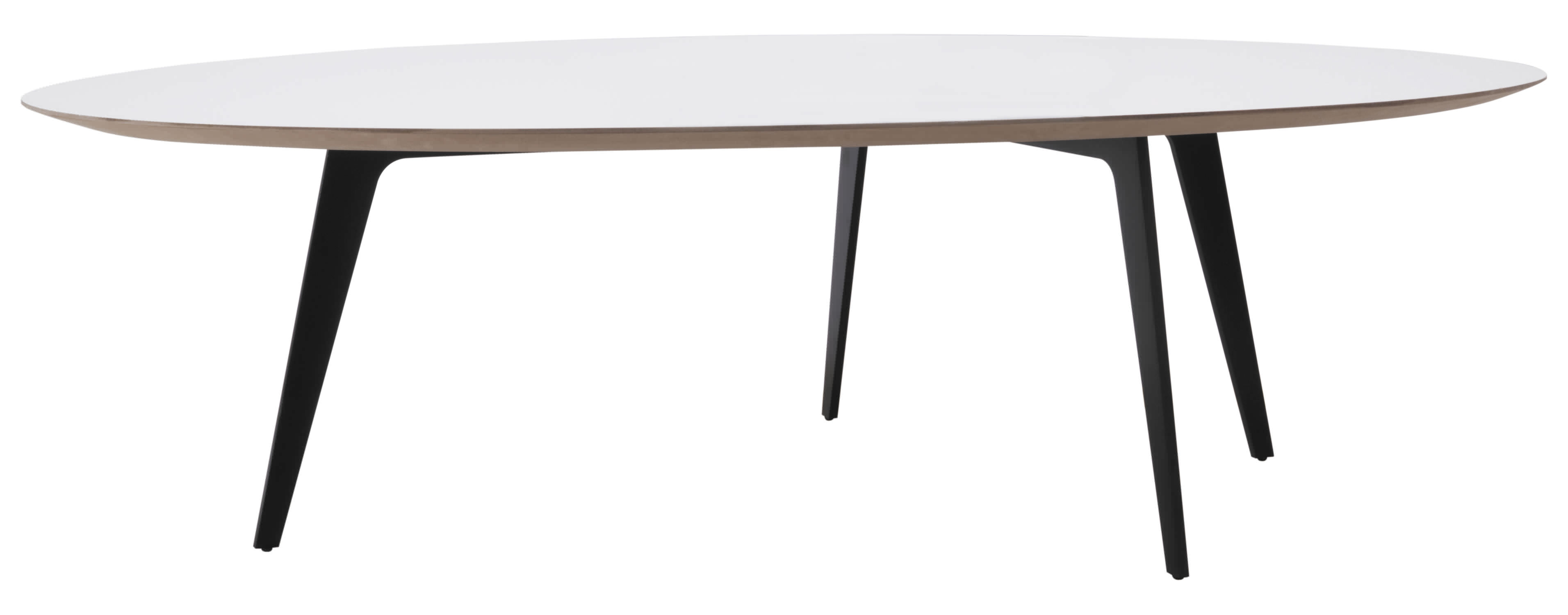 Contemporary coffee table metal lacquered wood round