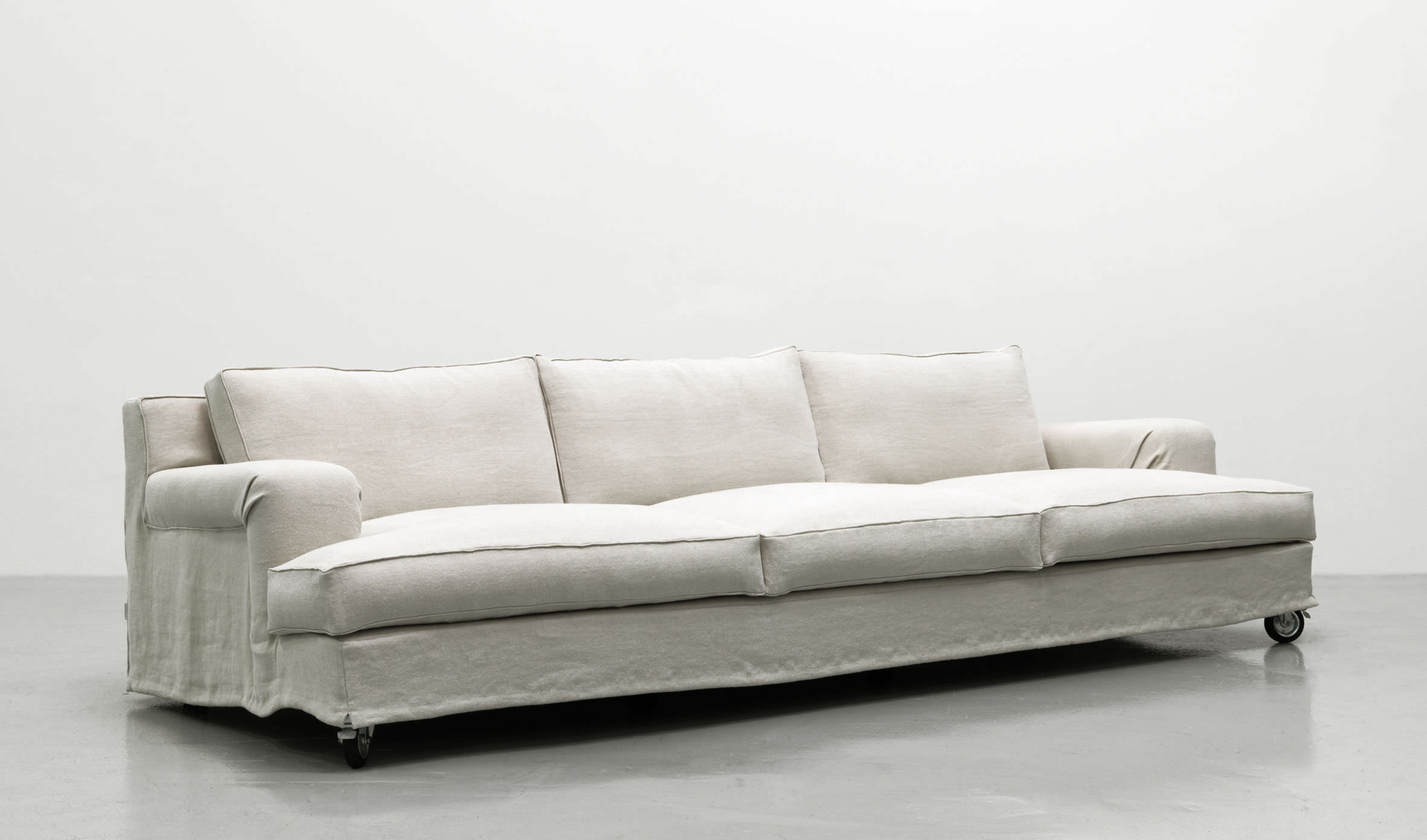 Contemporary Sofa / Fabric / 3 Seater / On Casters. ABERDEEN LEMA Home