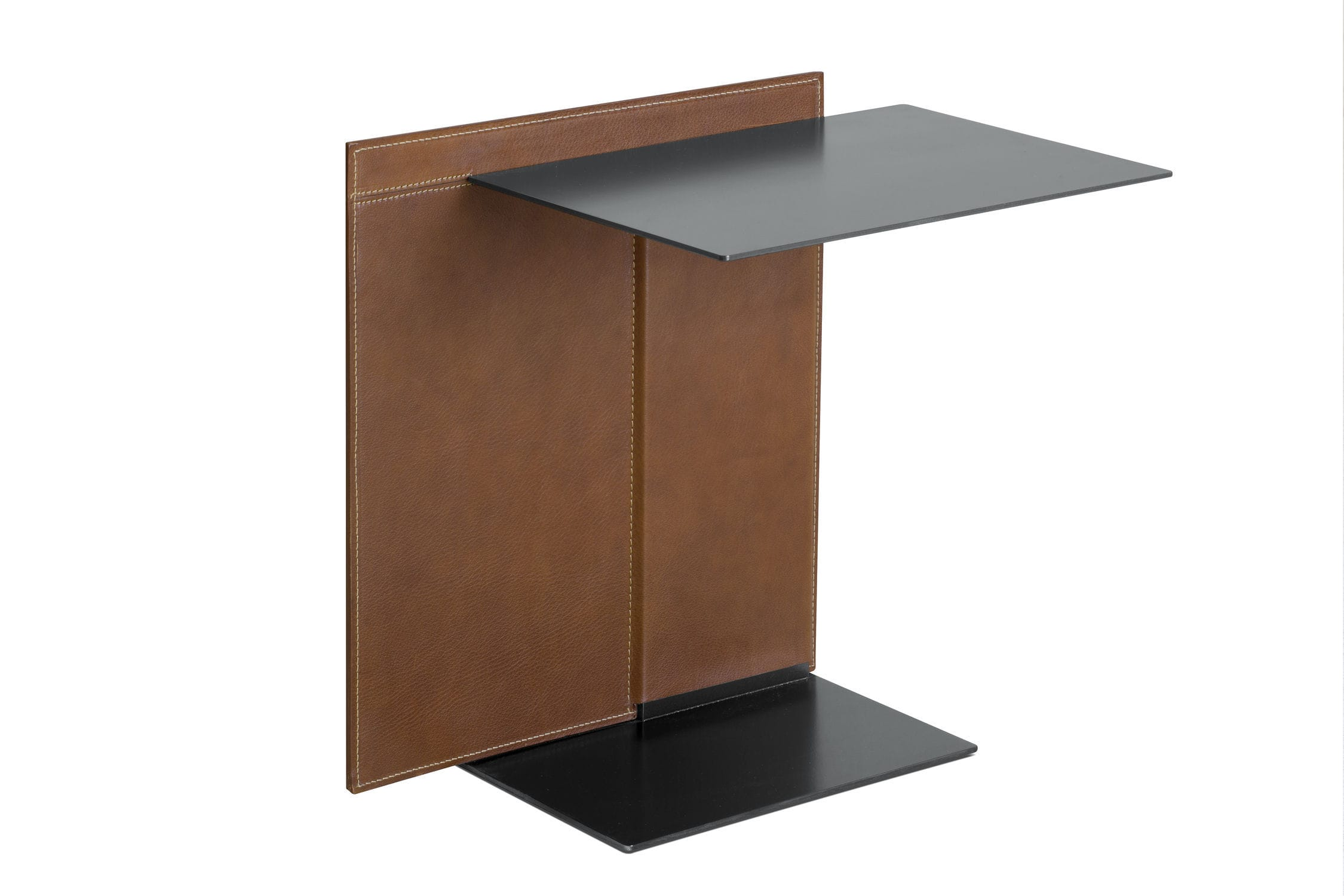 contemporary side table  metal  leather  rectangular  note by  -  contemporary side table  metal  leather  rectangular note bylucidipevere lema home