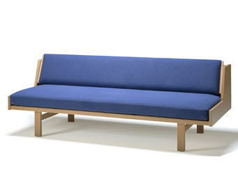 Sofa Bed / Contemporary / Beech / 2 Seater   GE 258 By Hans J. Wegner