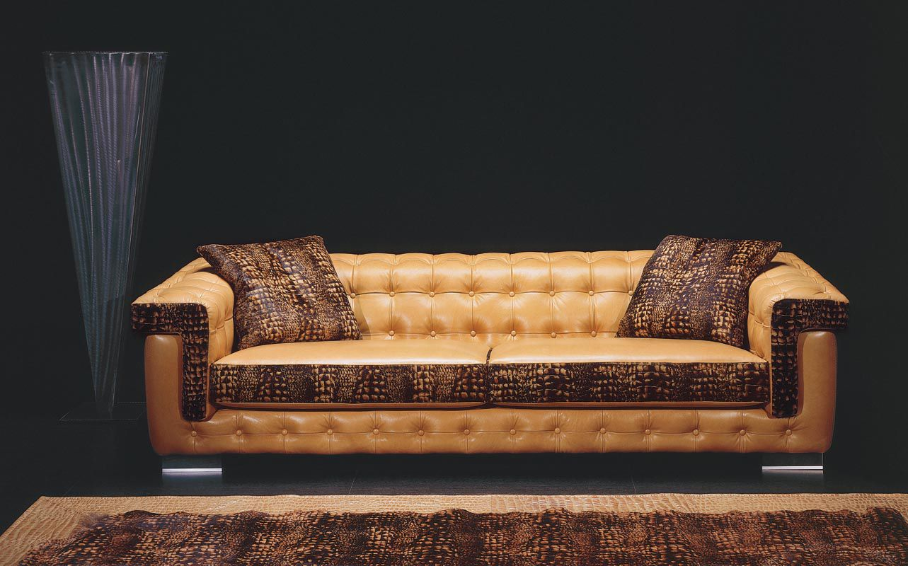Chesterfield sofa leder  Chesterfield sofa / leather / 3-seater / black - ASCOT - Poles Salotti