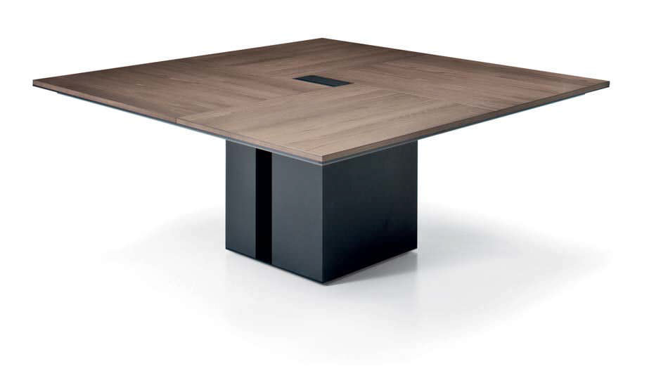 Contemporary Boardroom Table Wooden Rectangular Square ONO - Small boardroom table