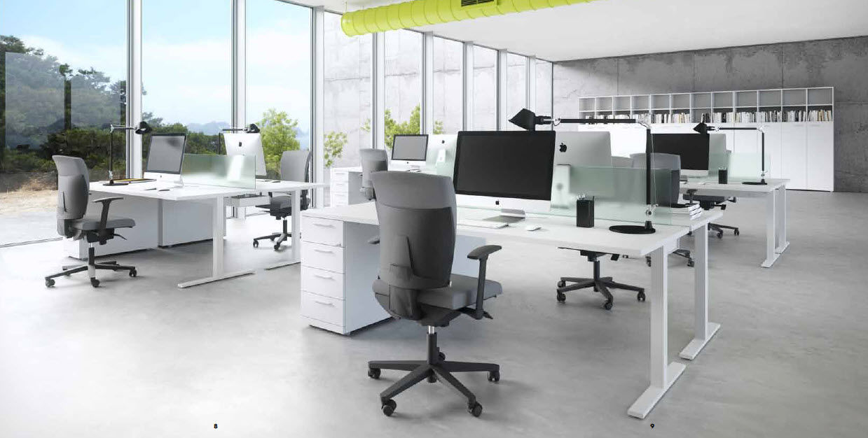 Workstation Desk Melamine Contemporary Commercial