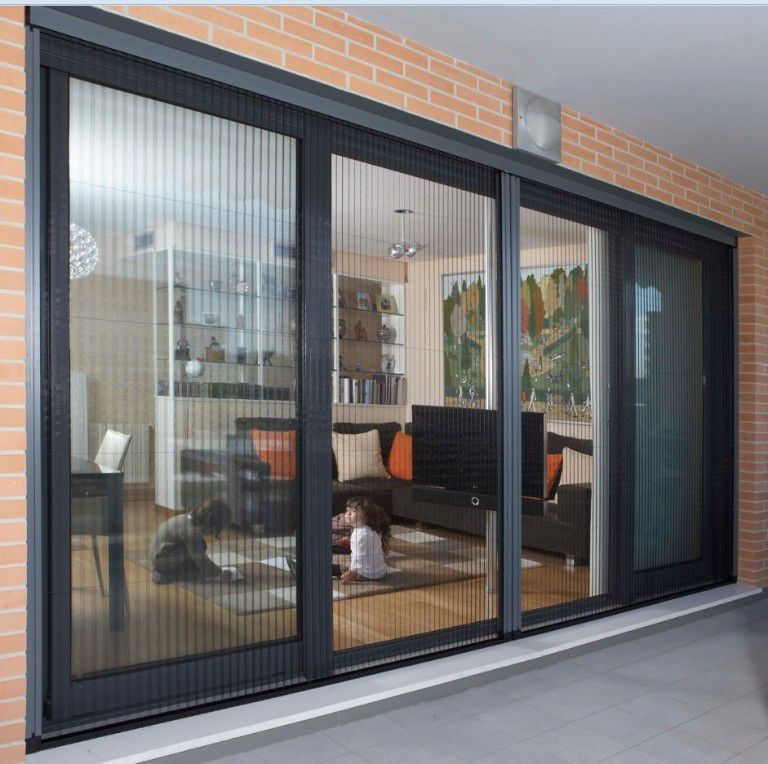 Sliding Screen / For Doors   Retractable Pleated