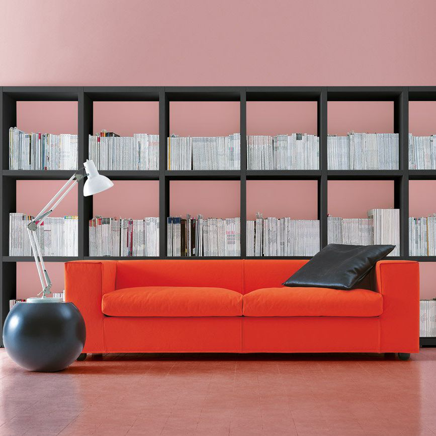 Sofa bed / contemporary / fabric / leather - CUBA 25 - Cappellini