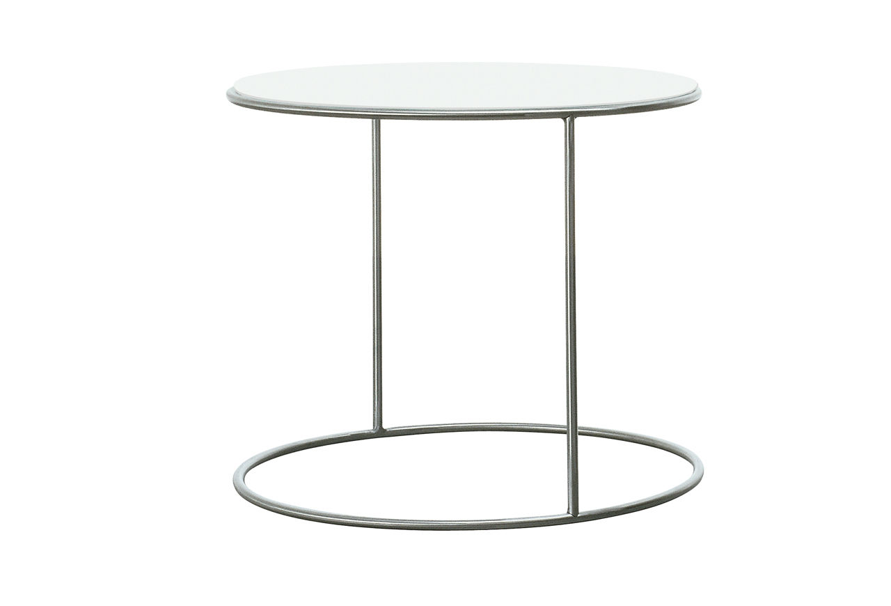 Round metal side table -  Clairemont Round Side Table Side Table Contemporary Lacquered Wood Stainless Steel Cannot By Michela Catalano Ilaria
