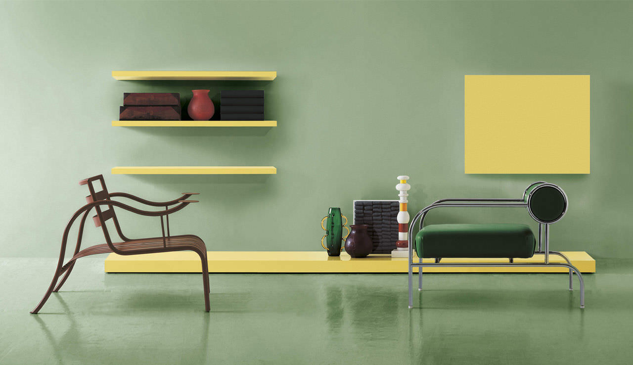 Contemporary living room wall unit / lacquered wood - AVIOLUX ...