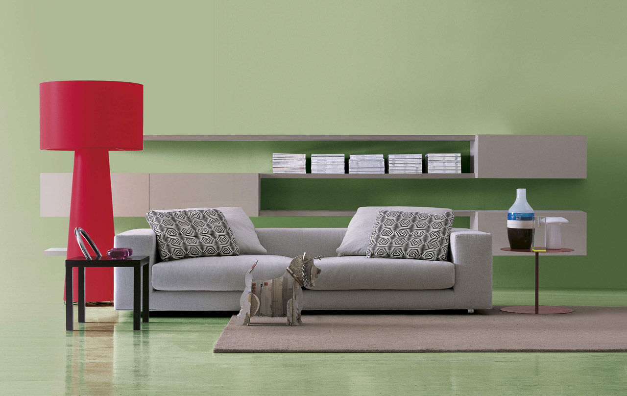 Living Room Wall Contemporary Living Room Wall Unit Lacquered Wood Aviolux