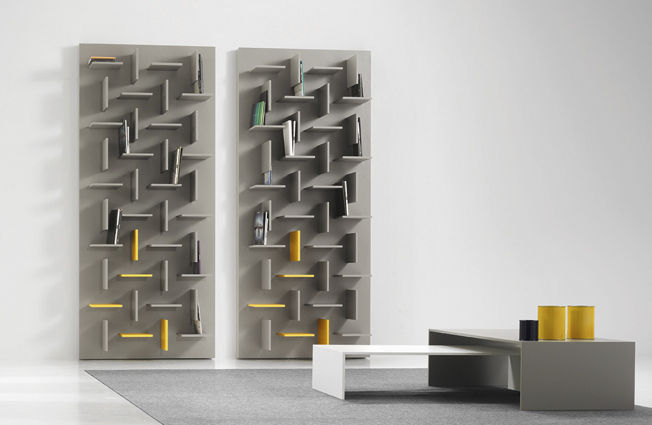 wallmounted bookcase wooden section by meneghello u0026 paolelli associati - Wall Mounted Bookcase