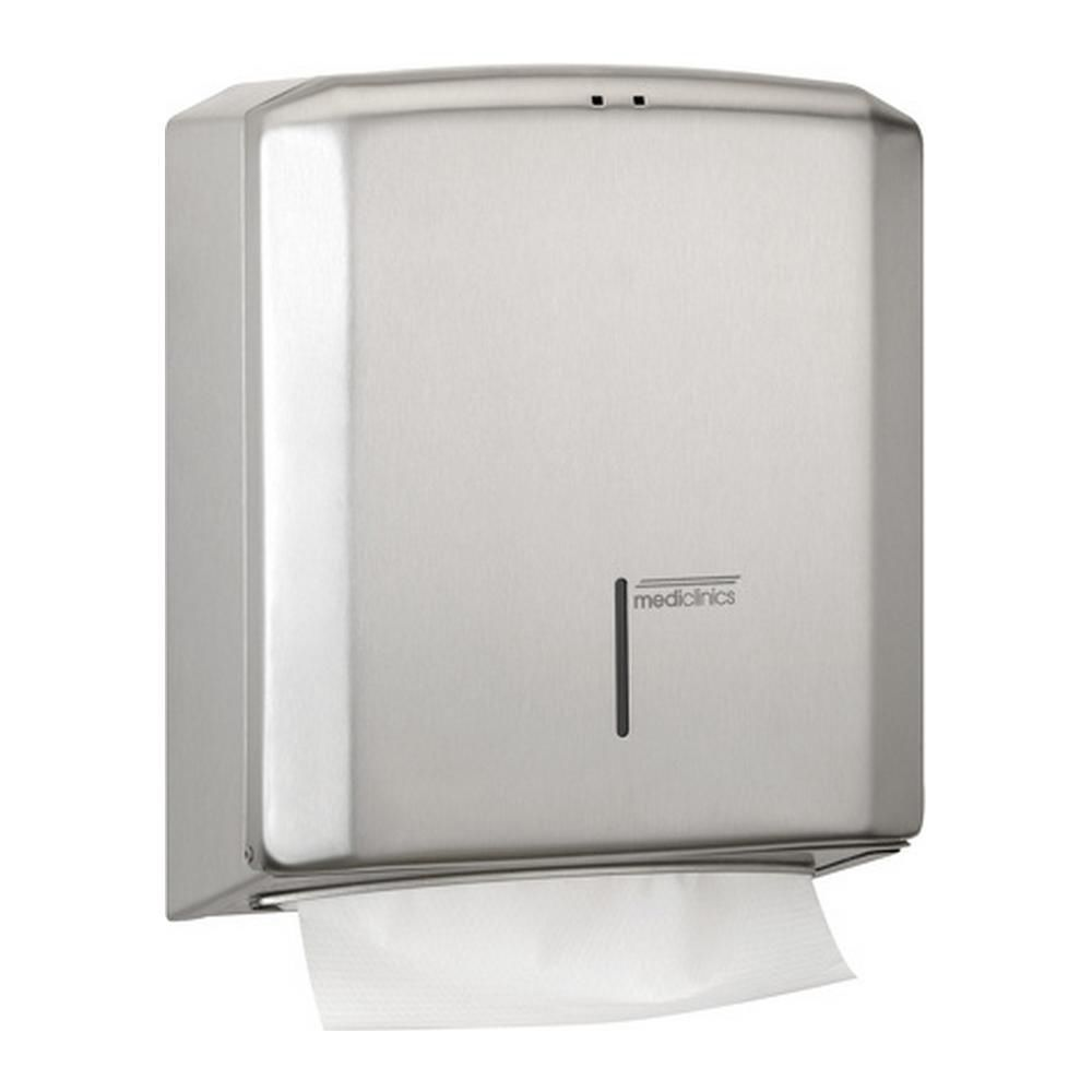 Wall mounted paper towel dispenser   stainless steel   DT2106CS. Wall mounted paper towel dispenser   stainless steel   DT2106CS
