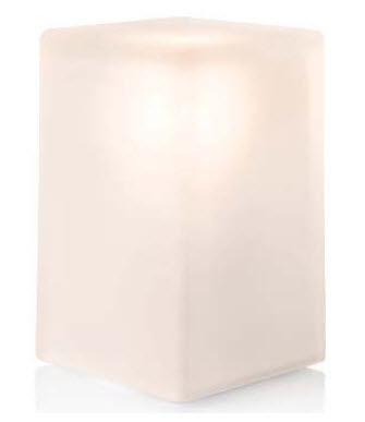 Table Lamp / Original Design / Frosted Glass / Wireless   ICE SQUARE 100 By  Peter Ellis + Jackie Chan
