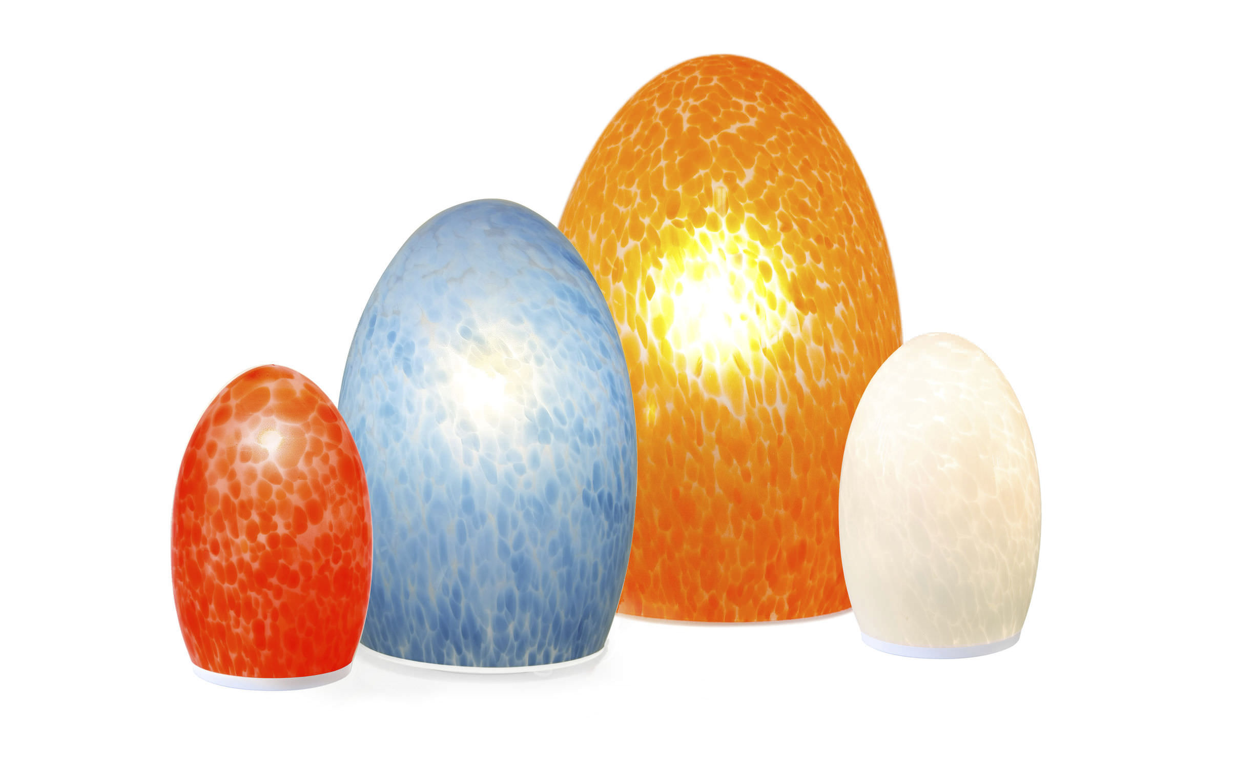 Table Lamp / Contemporary / Glass / Blown Glass   EGG FRITTED CORDLESS LAMPS