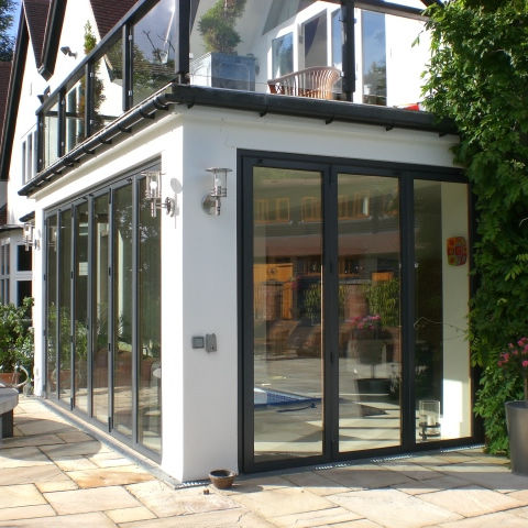 Sliding And Stacking Patio Door Aluminum Double Glazed Triple