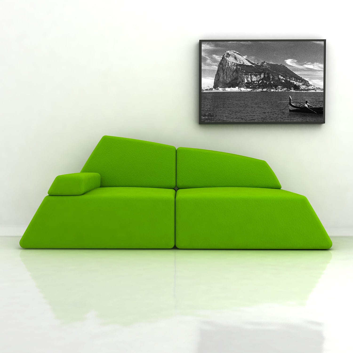 Original Design Sofa / Leather / Fabric / 2 Person   GIBRALTAR By Mostapha  El Oulhani