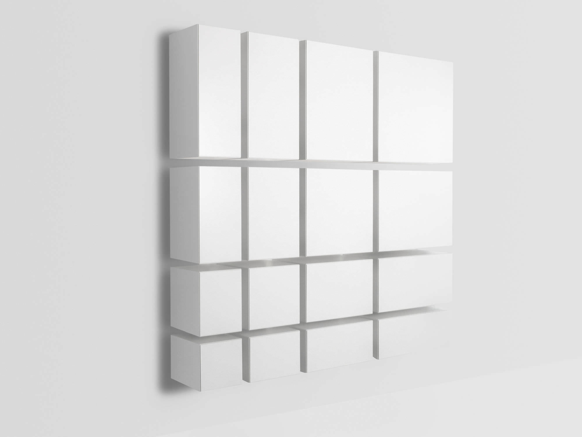Wall Mount Bookcase Wall Mounted Bookcase Contemporary Mdf Vision By Karel