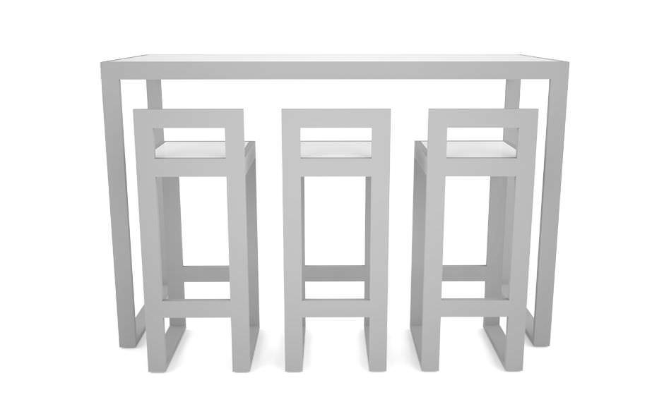Contemporary High Bar Table Metal Rectangular Garden Vita Axthor Outdoor Furniture