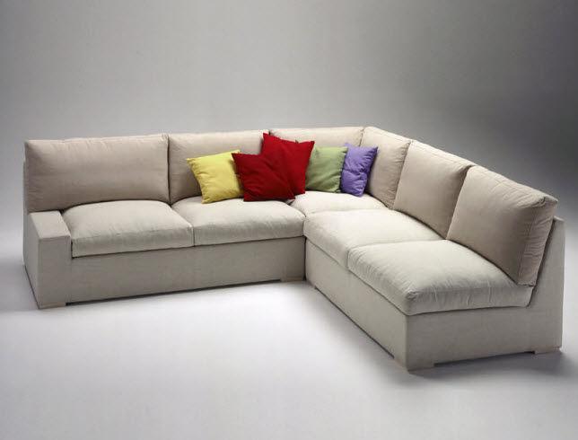 Corner sofa modular contemporary fabric ANGLE STONE by