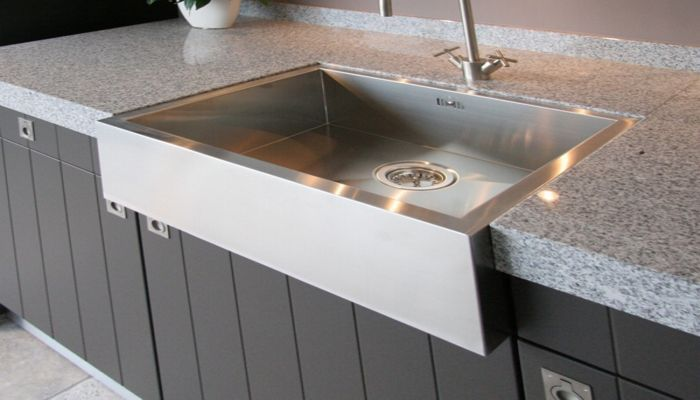 Single-bowl kitchen sink / stainless steel - BARONGA: BAR6054 - ABK ...