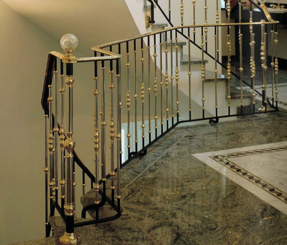 ... Stainless Steel Railing / With Bars / Indoor / For Stairs ...