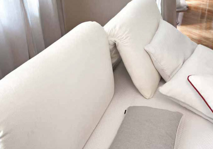 Double Bed / Contemporary / With Adjustable Headboard / Leather CHANTAL  V.u0026NICE ...