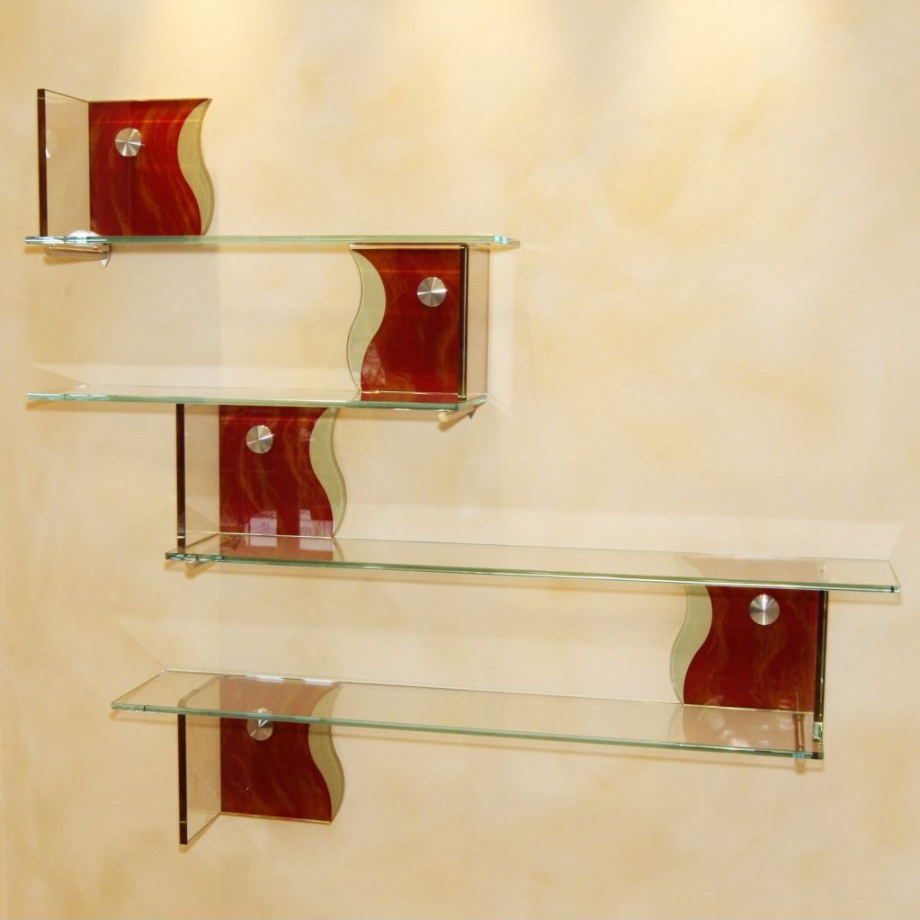 Wall-mounted shelf / modular / contemporary / glass - MIROITERIE ...