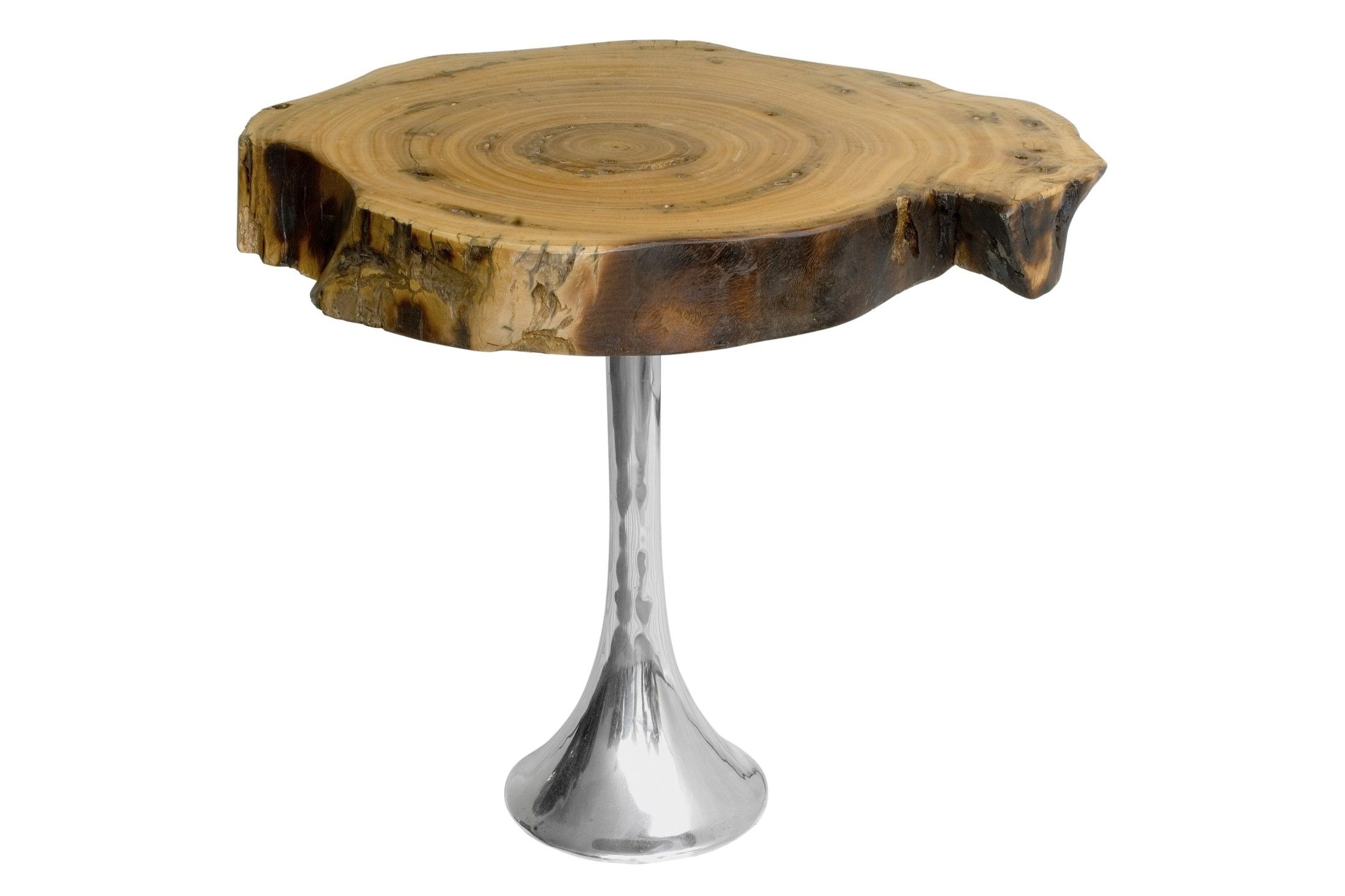 Contemporary side table wooden in reclaimed material BOLACHA