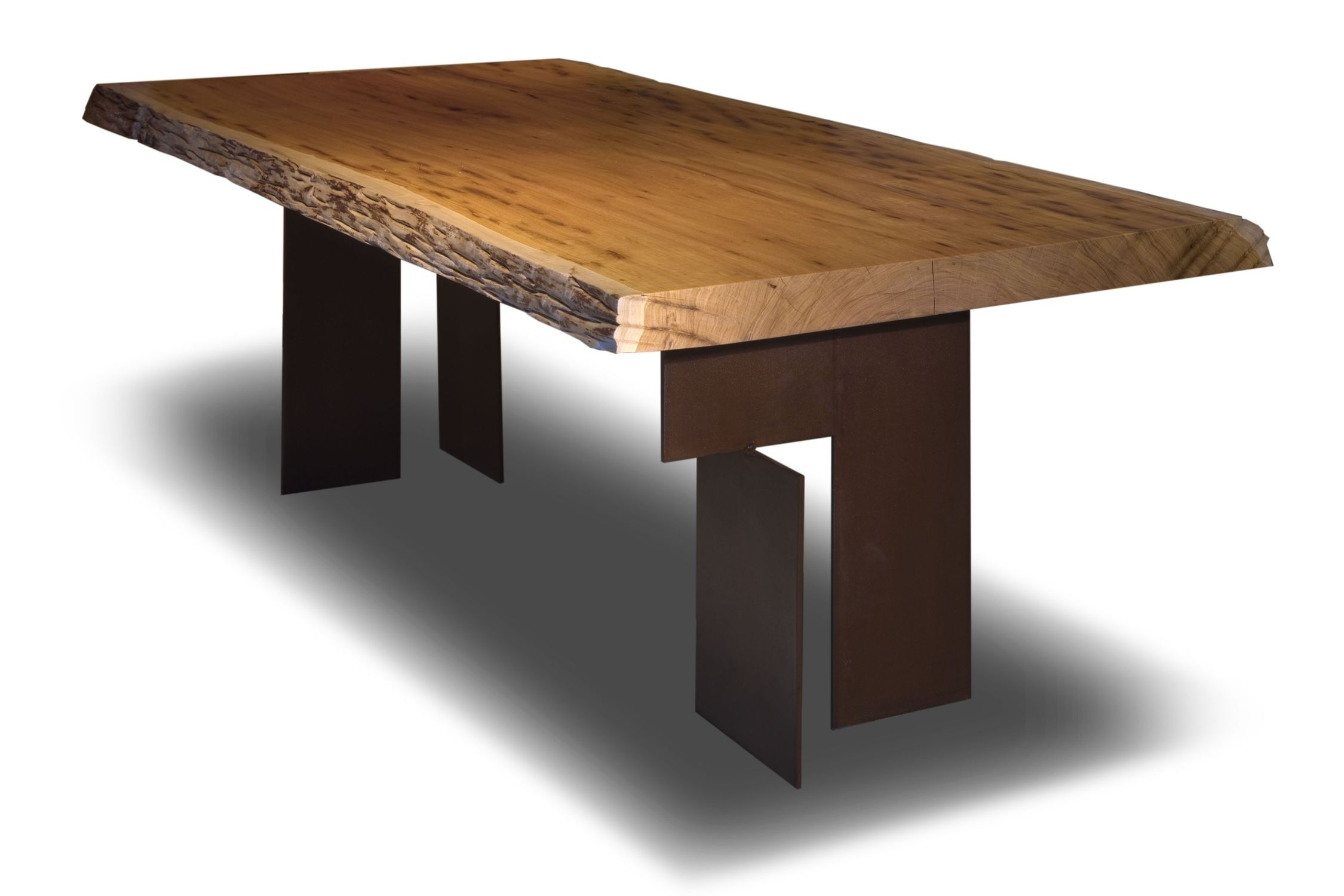 Contemporary Table Wooden Rectangular In Reclaimed Material - Outdoor wood rectangular dining table