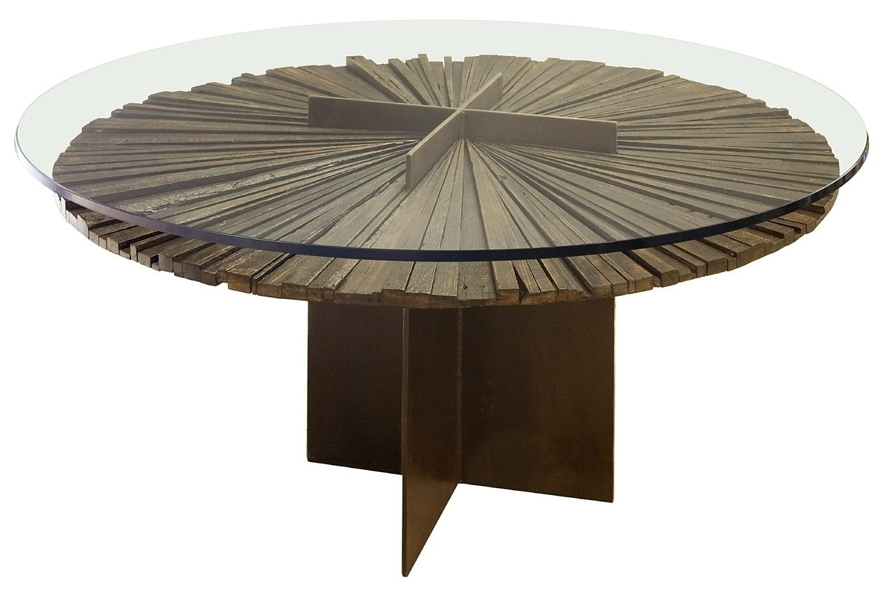 Contemporary Table / Wooden / Round / In Reclaimed Material   MANDALA