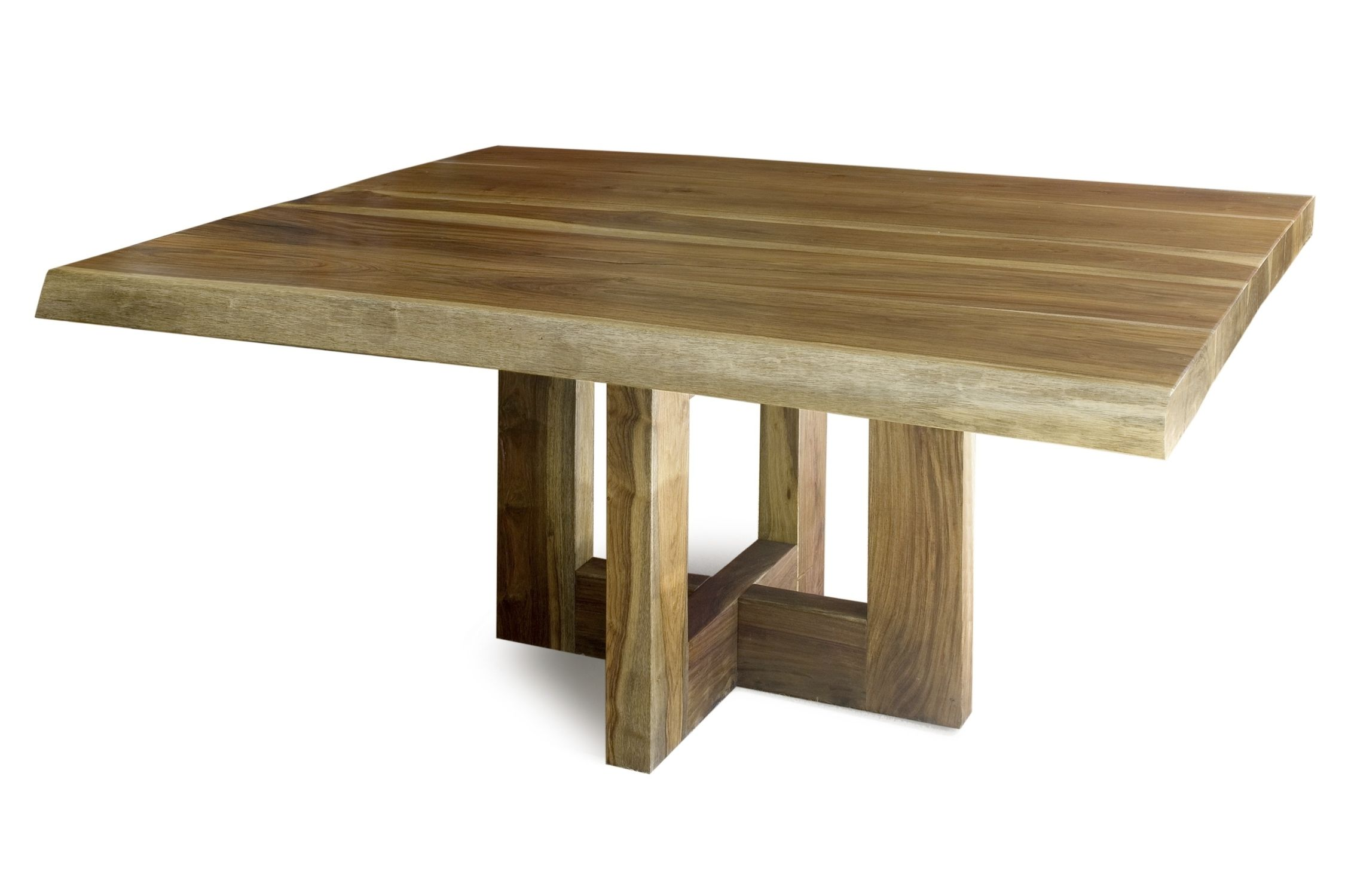 contemporary table wooden rectangular in reclaimed material jacaranda - Square Wood Dining Table